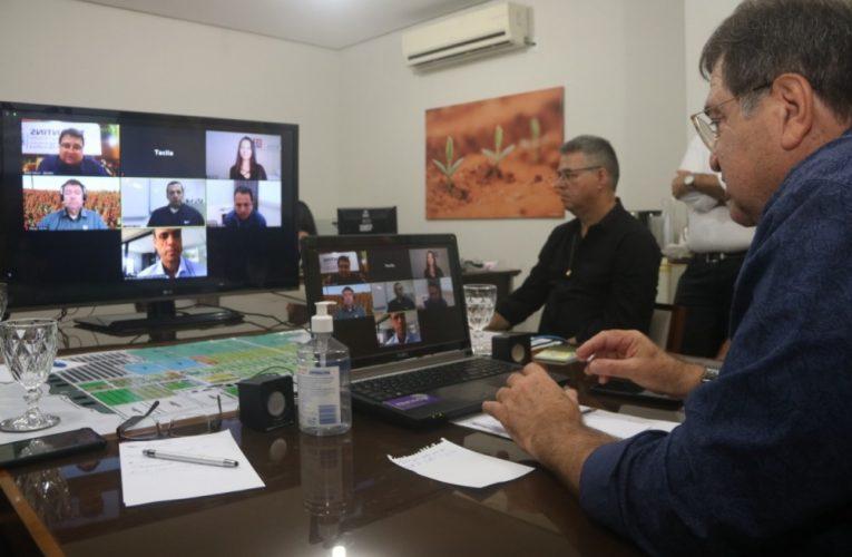 Secretário da Agricultura destaca parcerias em videoconferência com empresa de agrociência