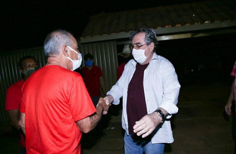 O deputado federal Célio Moura apoia o amigo José Salomão a prefeito de Dianópolis em campanha custo zero